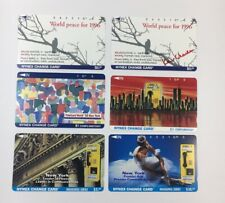 Lot Of 6 Nynex Change Cards Telecard 1996 1994 Phone Cards Mint (7177)
