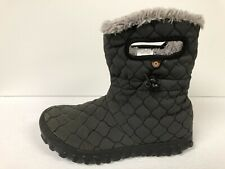 Bogs B Moc Quilt Puff Snow Boot Womens 7 M Black