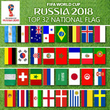 ANGEBOT WM 2018 FIFA Fußball Flaggen Fahnen Flaggenkette 32Team 210x140 Flags