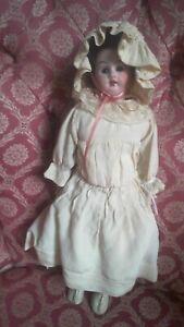 """Unusual 12""""  Gebruder Knoch? '185' Bisque Shoulder-Head Antique Doll circa 1900"""