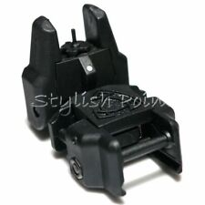 Airsoft Aps Abs Polymer Rhino Auxiliary Flip Up Front Sight Black