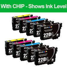 10 PK Remanufactured Ink Cartridges for 220XL 220 XL fit Epson WorkForce WF-2650