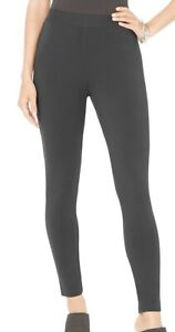 Style & Co. Womens Ankle Leggings Charcoal Gray Size XS Knit Mid-Rise 038