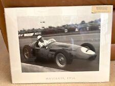 Vintage Rosenstiel's London Print Stirling Moss Maserati 1956 F1 By Alan R Smith