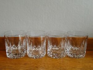 """LOVELY TUDOR CRYSTAL FROBISHER WHISKY TUMBLERS 3""""  X 4"""