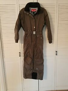 Marker Insulated One Piece Snow Ski Suit, Gray/Taupe, Women's 6