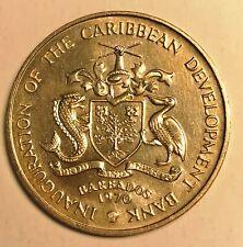 UNC 1970 Elizabeth II 4 Dollar Commentative Issue FAO Barbados Eastern Caribbean