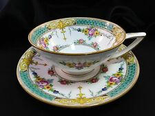 Mintons Selwyn England #696312 Bone China Cup & Saucer Set Hand Painted Flowers