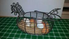 Chicken Wire Basket with Ceramic Eggs  Country Kitchen