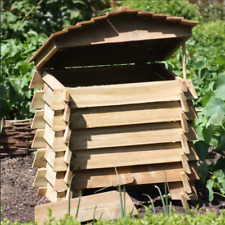 Large 328L Wooden Beehive Garden Composter Organic Recycling Kitchen Food Waste