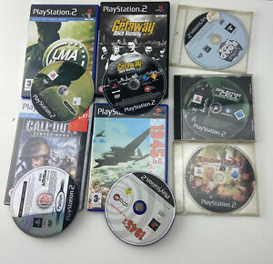 PS2 X7 Games Bundle LMA MANAGER 2007 - PLAYSTATION, The Simpsons COD 1945 1&2
