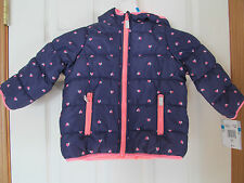 NWT Girls Carters Navy, Pink Heart 100% Polyester Winter...