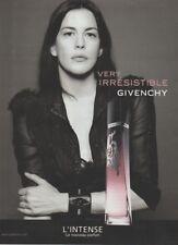 Publicité papier - advertisiing paper - Véry Irrésistible l'Intense de Givenchy