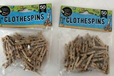 2 packs of 50 pc 1 Inch Mini Clothespins Natural Wood Miniature Clip Arts Crafts