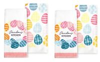 Celebrate Easter Together Kitchen Towels GRANDMA'S KITCHEN 4-Piece Set NEW
