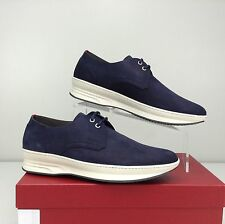 Salvatore Ferragamo Marland Oxfords Sneakers Royal Blue Lace Up 7 D NIB