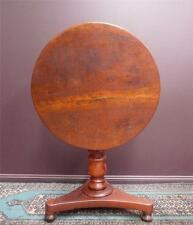 CEDAR~ Australian Colonial small Pedestal Table 1800s screw pedestal, tilts RARE