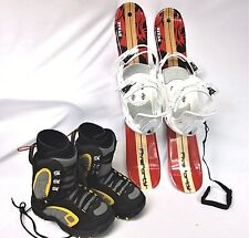 Snowblade Package, 75cm FiveForty WIDE TITAN Ski Blades, bindings and boots
