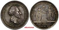 SWEDEN  Silver 1821 MEDAL A.N.Edelcrantz Memorial Medal 31 mm by M.Frumerie AU