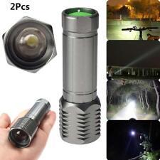 2PC X-XM-L T6 LED Linterna Antorcha 3000LM Zoom Foco Ajustable Luz Lámpara FB