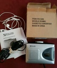 Encore Technology Walkman Cassette Converter Tape to Usb. Cord and instructions