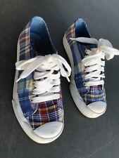 Ralph Lauren Chucks   Größe 37  US 6 1/2 - UK 4  kariert Vintage Sneakers