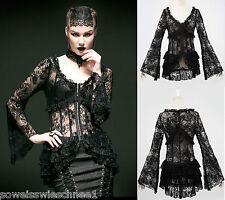 Punk Rave Gothic Lolita Jacket Bluse Spitze WGT Lace Shirt Steampunk Blouse Y535