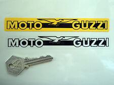 MOTO GUZZI Number Plate Dealer Logo Cover STICKER Yellow Motorcycle Bike LeMans