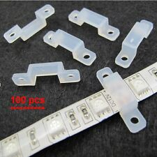 100 x Silicone LED Clip Fixing 8-12.5mm Width for 3528/5050/5630 Strip Light