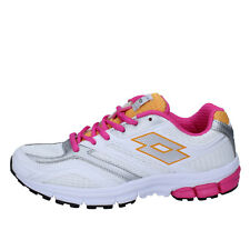 scarpe donna LOTTO 37 EU sneakers bianco / Fucsia tessuto BY868-37