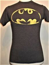 "dark gray heather BATMAN ""Distressed"" Logo T-shirt"