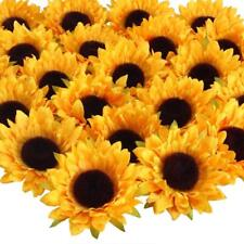 24pcs Artificial Flower Silk Sunflower Head Decoration Wedding Holding Flower