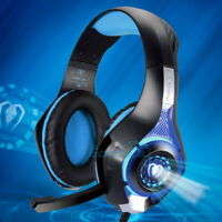3.5mm Gaming Headset Mic LED Headphones Stereo Surround for PC PS4 Xbox ONE US