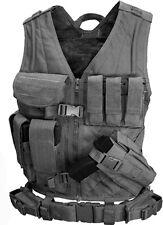 Condor Crossdraw Tactical Vest - Black - CV-XL-002 XL MOLLE PALS
