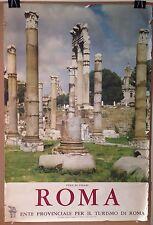 ORIGINAL Vintage Roma Rome Italy Travel Poster 1960's