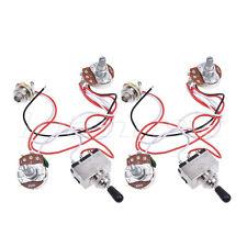 Guitar Wiring Harness Kit 3 Way Toggle Switch 1v1t 500k Pots 2 Pcs