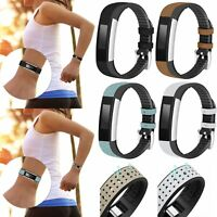Genuine Leather + TPU Band Bracelet Wrist Strap  For Fitbit Charge HR/Alta HR