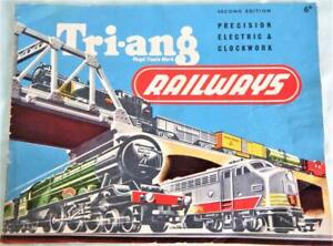 Triang Railways 2nd Edition Catalogue from 1956 in Good Unmarked Condition