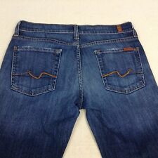 Ladies 7 For All Mankind Boot Cut Blue Jeans Sz 29 Free Shipping             411