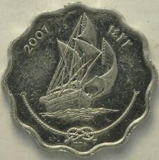 2001 BRILLIANT UNCIRCULATED MALDIVE ISLANDS 10 LAARI FREE SHIPPING