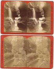 5 Stereoviews ~ Watkins Glen Scenery along the Lehigh Valley Railroad c1880s