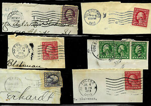 """Washington Franklin Town Year Date Cancels """"1913 1918 1923 etc"""" 1-3 Cent  US A14"""