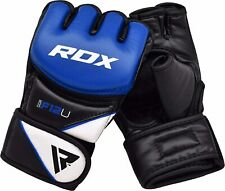 RDX MMA Gloves for Grappling Martial Arts Training | D. Cut Palm Maya Hide Leath
