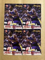 (4) 1998 KOBE BRYANT COLLECTOR'S EDGE IMPULSE RED LETTERS VARIETY ON BACKS