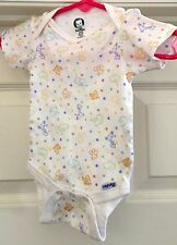Gerber white animal print one piece size 0-3 months!!