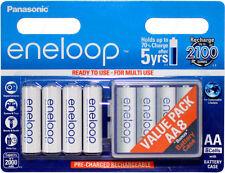 Panasonic eneloop AA NiMH Rechargeable Battery 2000mAh 8pk w/ 4 Cell BONUS Case