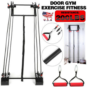 Tower 200LBS Door Gym Exercise Fitness Full Body Gym Workout Fitness tool USA