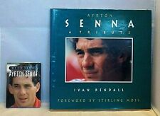 AYRTON SENNA 2x HARDBACK BOOKS A TRIBUTE Ivan Rendall & THEY DIED TO YOUNG