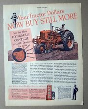 Original 1949 Case Tractor Ad YOUR TRACTOR DOLLARS NOW BUY STILL MORE  10 x 13