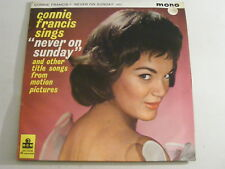 CONNIE FRANCIS Never On Sunday Ex UK 1961 MGM C 875 LP